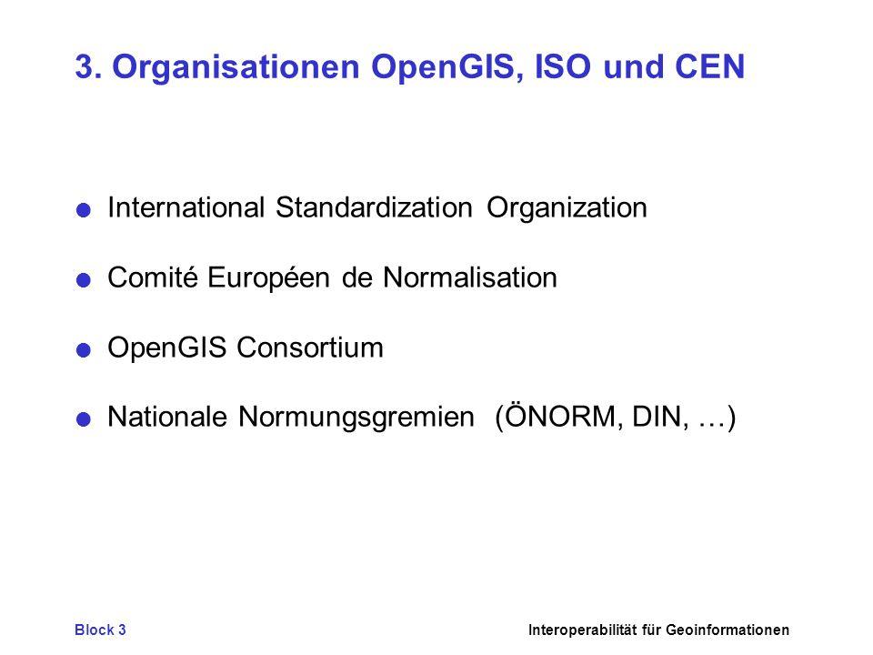 Block 3Interoperabilität für Geoinformationen 3.
