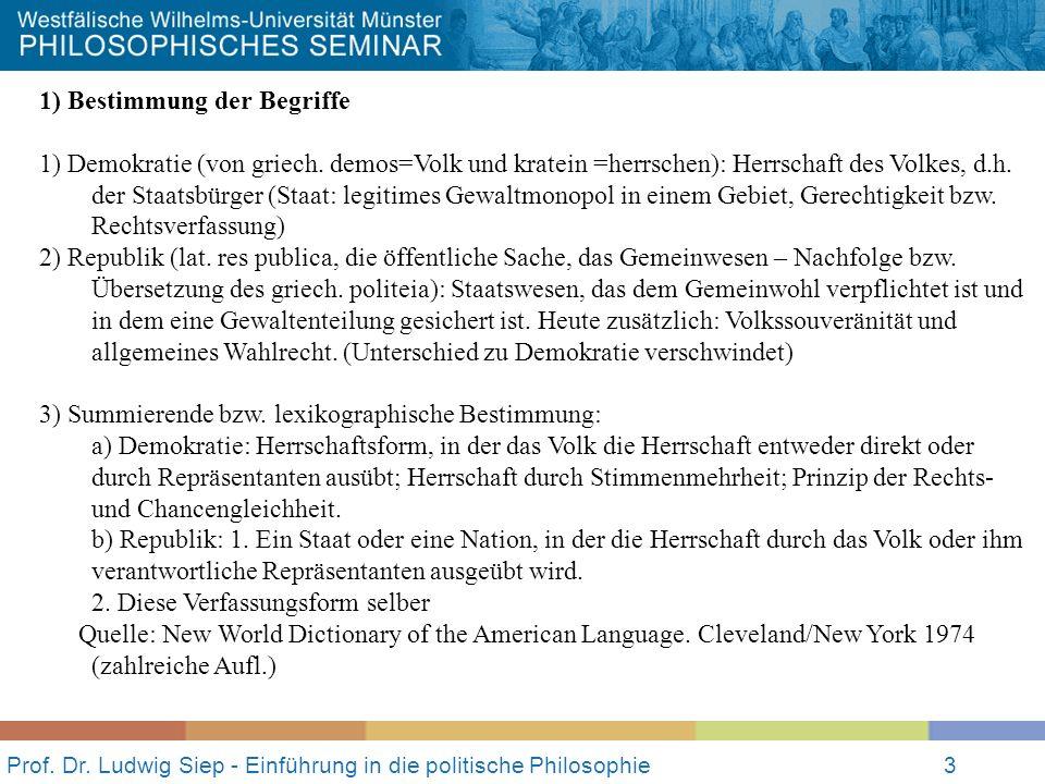 Prof.Dr. Ludwig Siep - Einführung in die politische Philosophie4 2.
