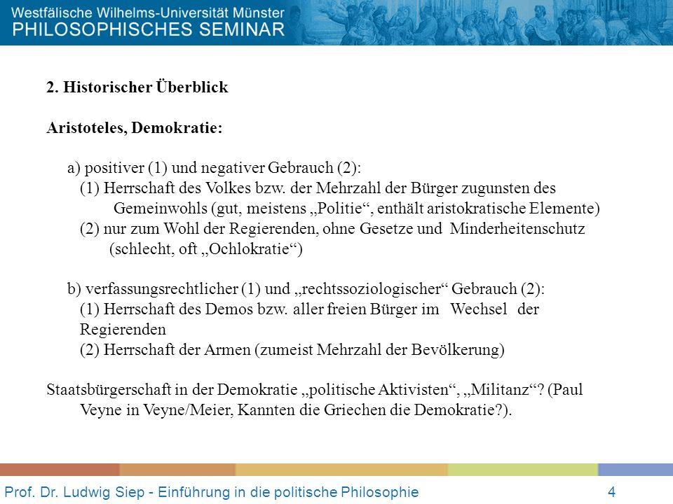 Prof. Dr. Ludwig Siep - Einführung in die politische Philosophie4 2.