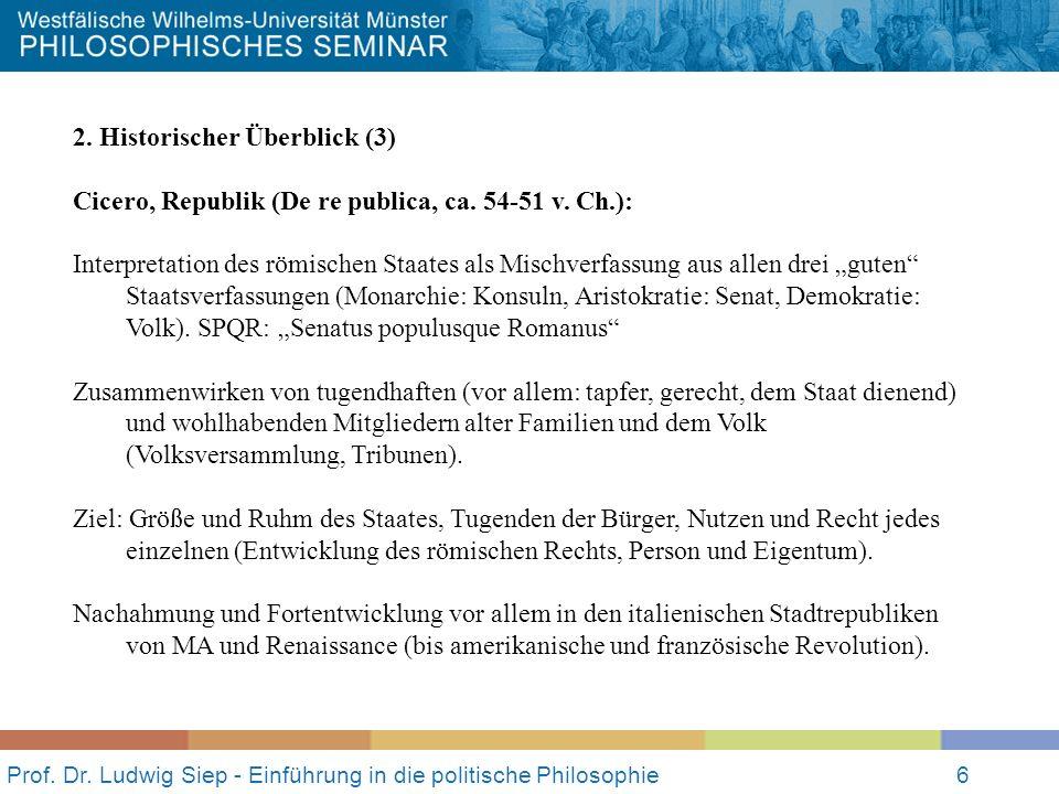 Prof. Dr. Ludwig Siep - Einführung in die politische Philosophie6 2.