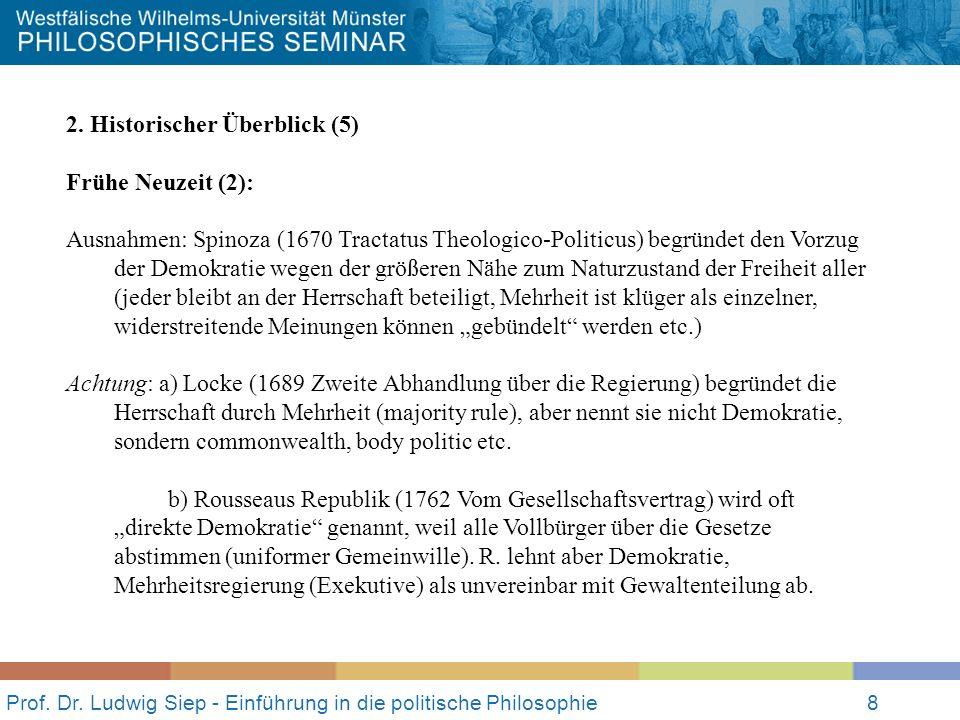 Prof. Dr. Ludwig Siep - Einführung in die politische Philosophie8 2.