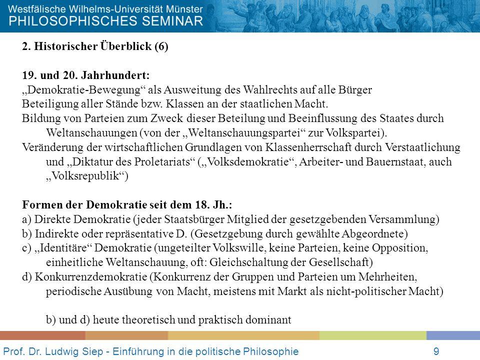 Prof. Dr. Ludwig Siep - Einführung in die politische Philosophie9 2.
