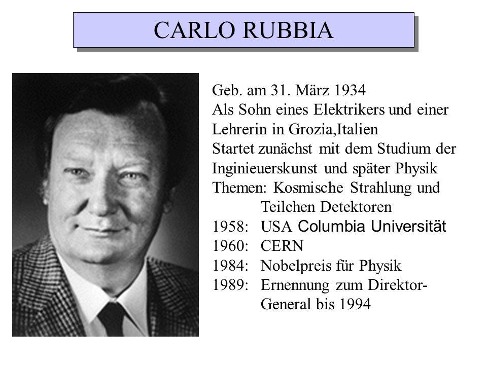 Geb. am 31. März 1934 Als Sohn eines Elektrikers und einer Lehrerin in Grozia,Italien Startet zunächst mit dem Studium der Inginieuerskunst und später