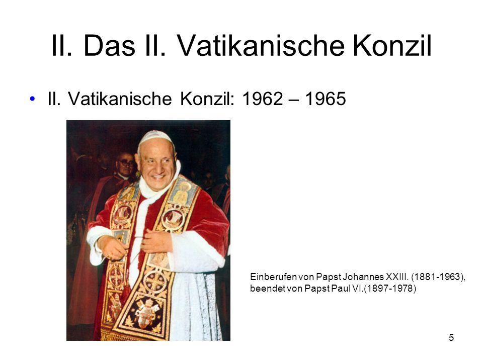 5 II.Das II. Vatikanische Konzil II.