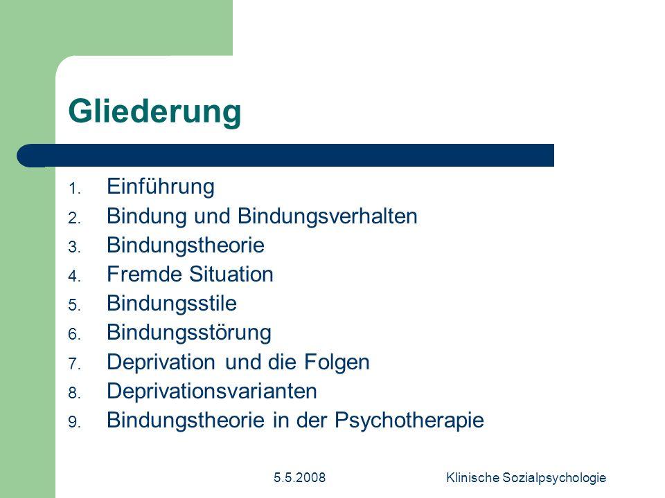5.5.2008Klinische Sozialpsychologie 1.