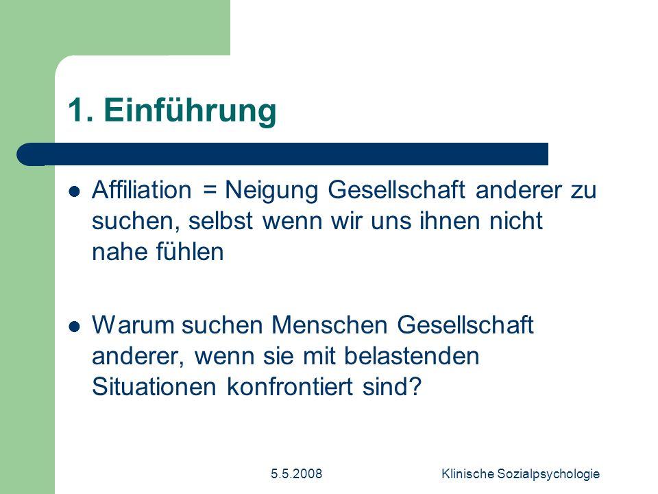 5.5.2008Klinische Sozialpsychologie 2.