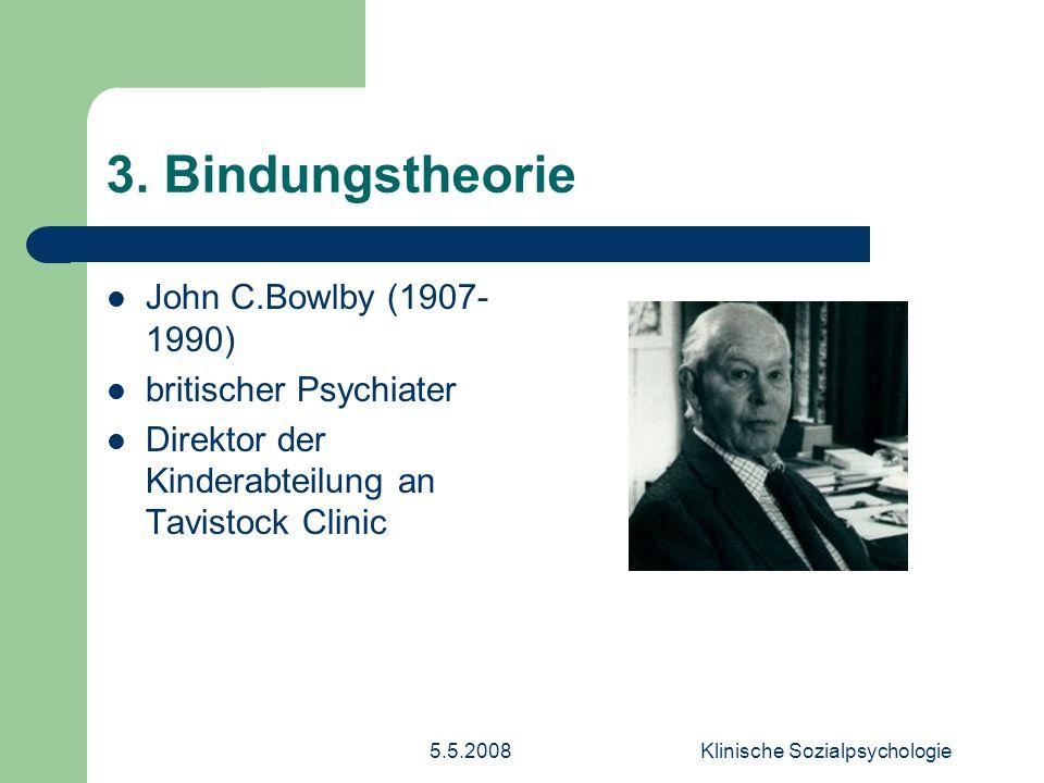 5.5.2008Klinische Sozialpsychologie 8.Deprivationsvarianten 3.