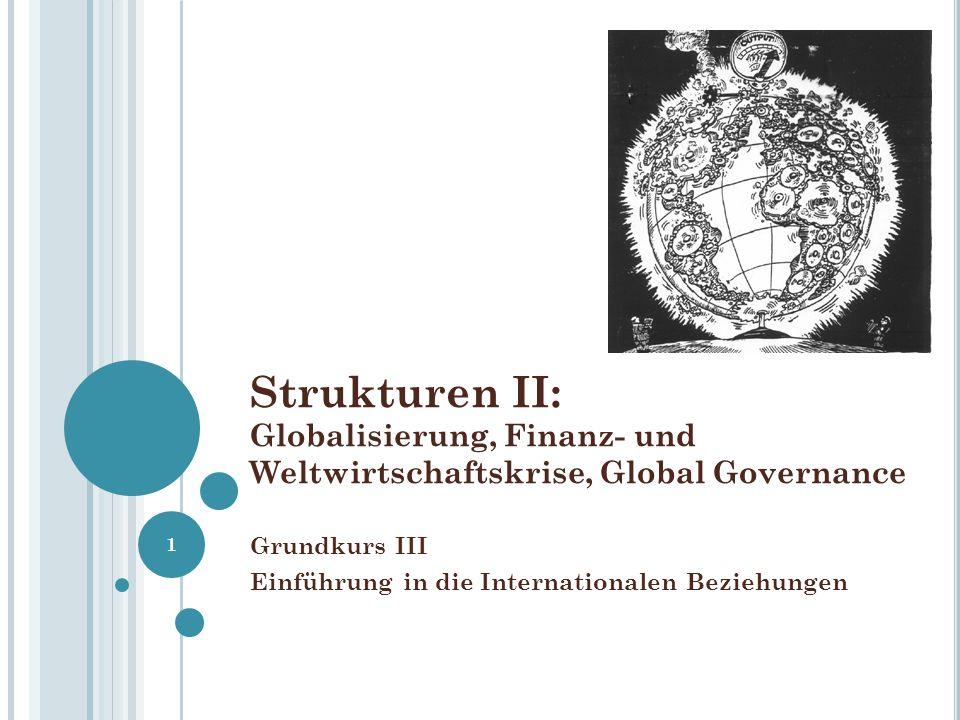 Strukturen II: Globalisierung, Finanz- und Weltwirtschaftskrise, Global Governance Grundkurs III Einführung in die Internationalen Beziehungen 1