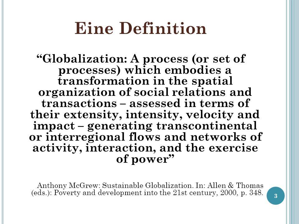 Global Governance ist …...politische Korrektur der globalisierten Marktwirtschaft im Sinne...