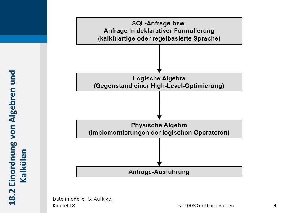 © 2008 Gottfried Vossen SQL-Anfrage bzw.