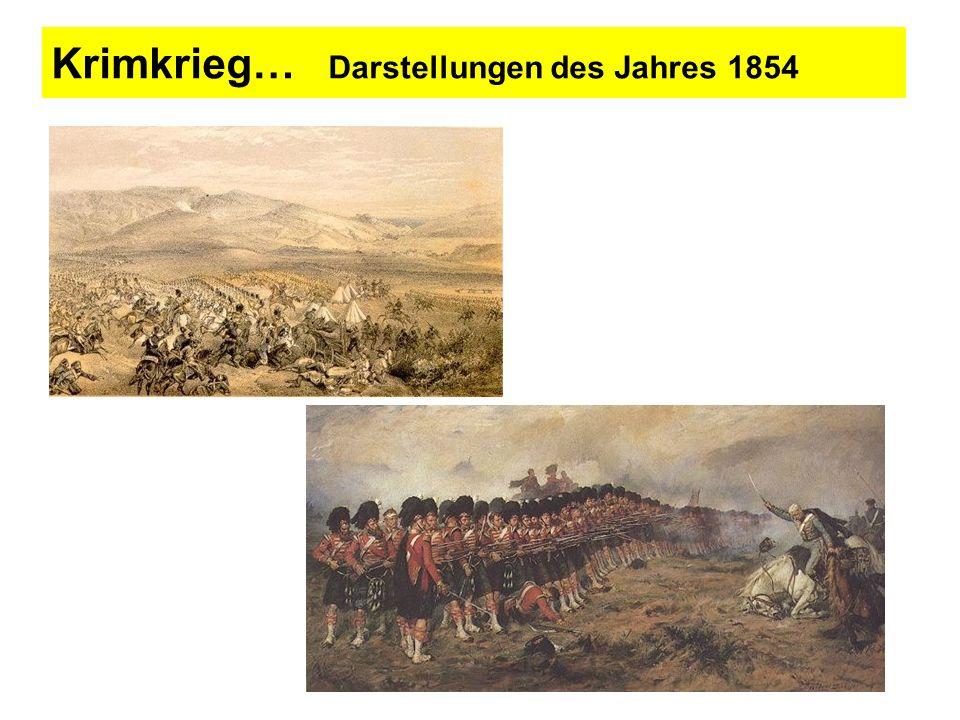Krimkrieg… Darstellungen des Jahres 1854