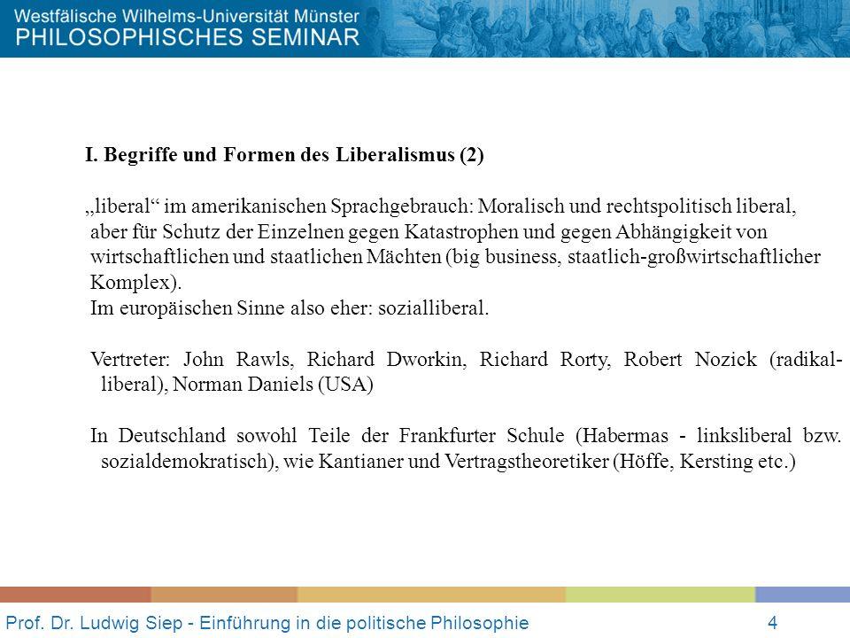 Prof.Dr. Ludwig Siep - Einführung in die politische Philosophie4 I.