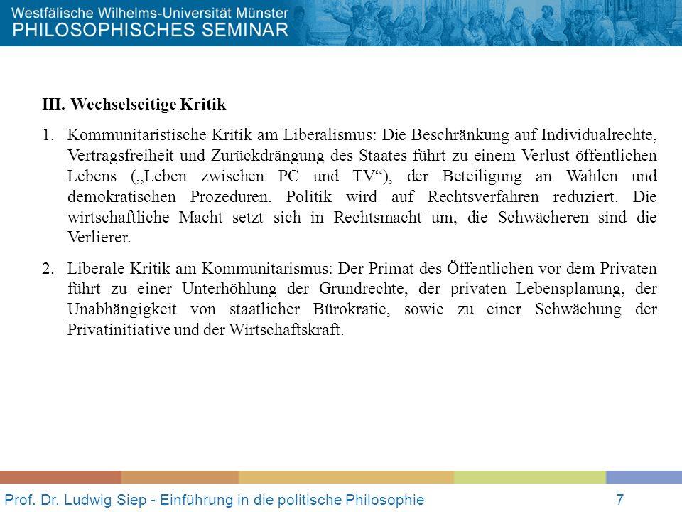 Prof.Dr. Ludwig Siep - Einführung in die politische Philosophie8 IV.
