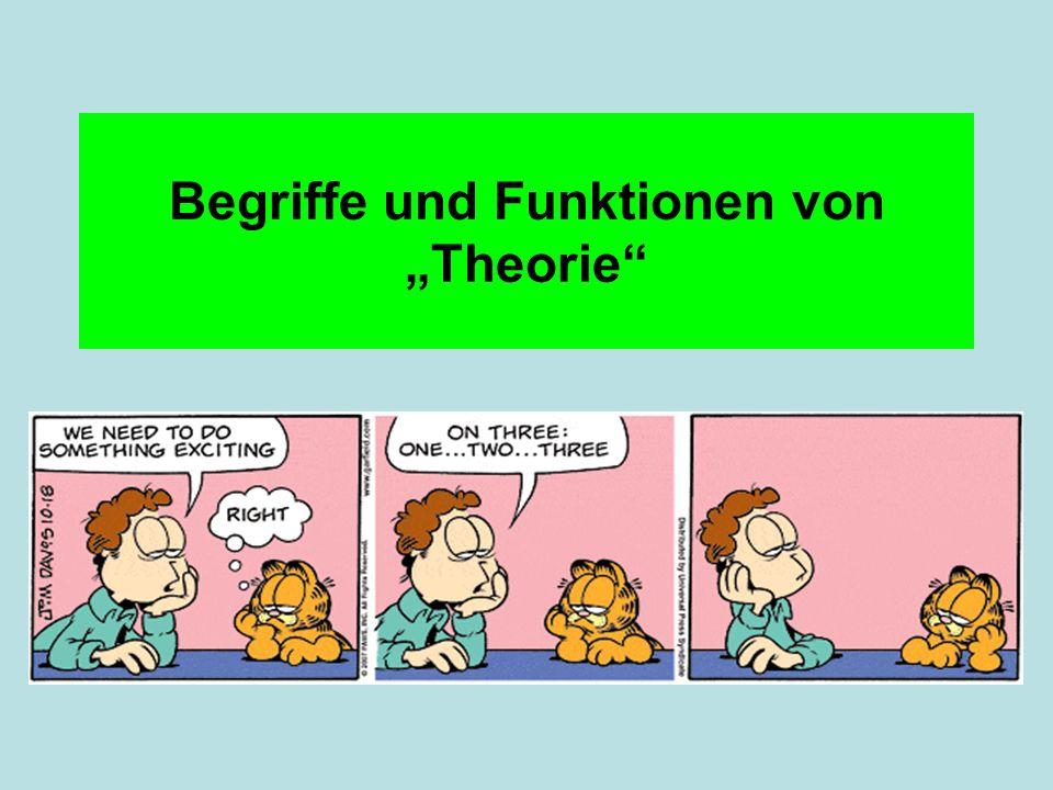 Begriffe und Funktionen von Theorie