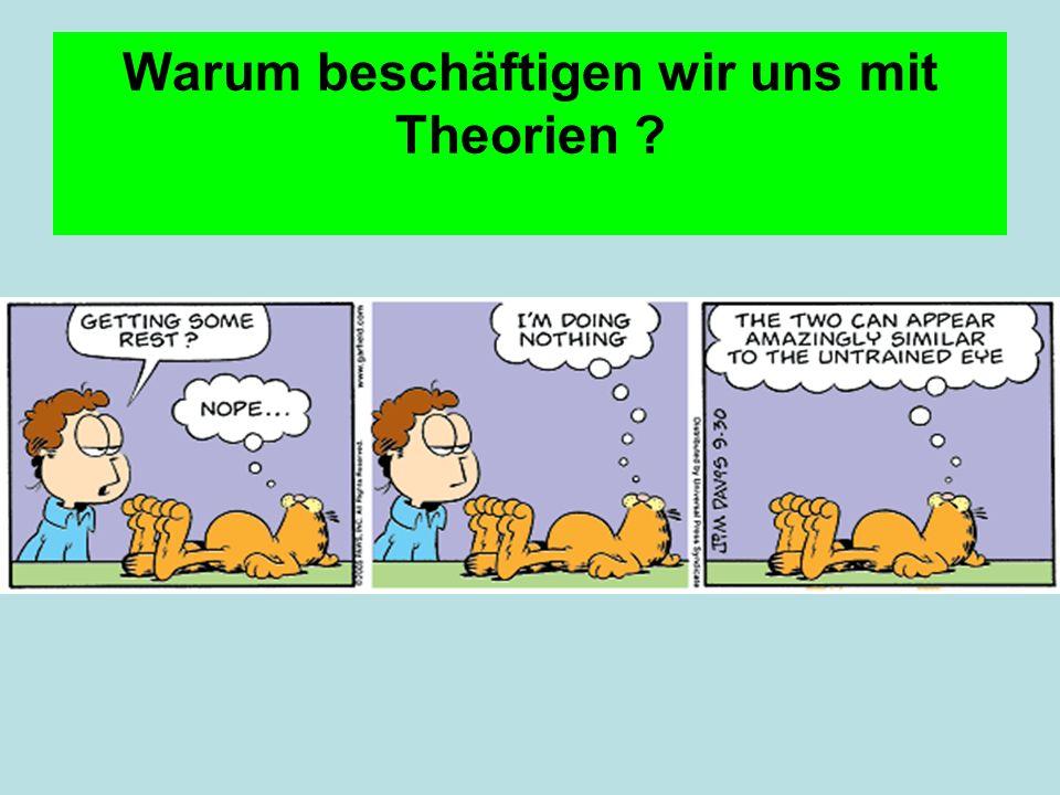 Warum beschäftigen wir uns mit Theorien ?