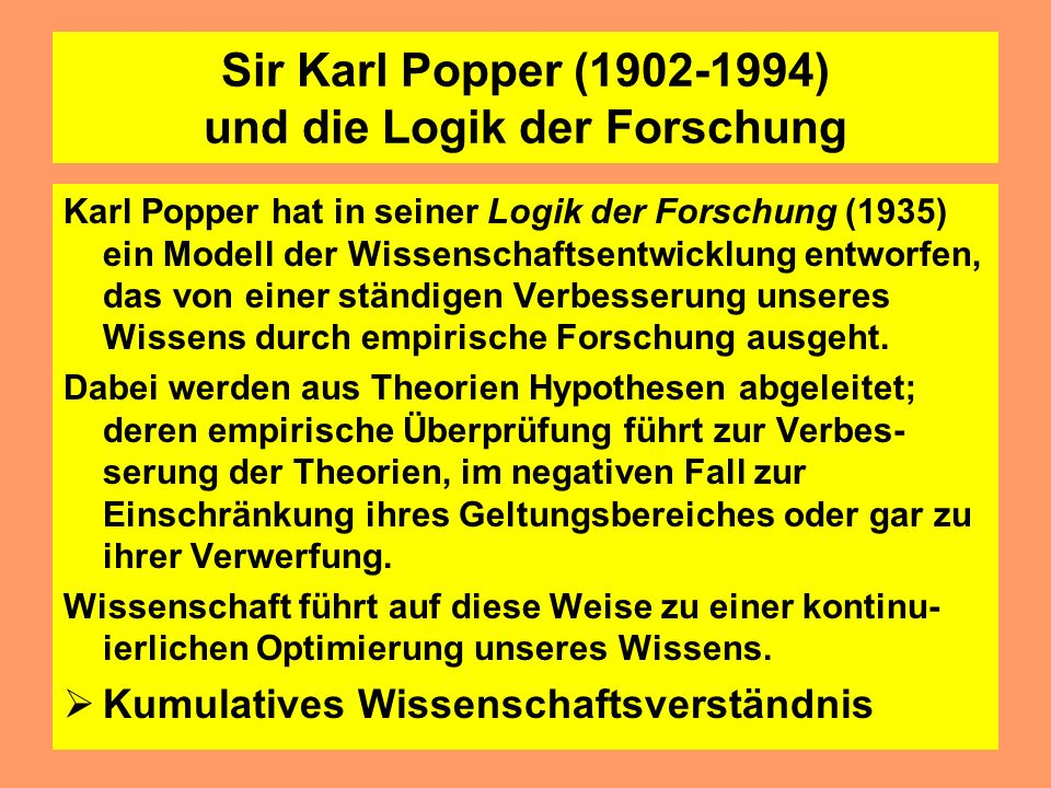 Logischer Empirismus:Grundzüge Basiselemente wissenschaftlicher Erkenntnis sind sinnliche Beobachtungen theoretische Begriffe werden nur zugelassen, w
