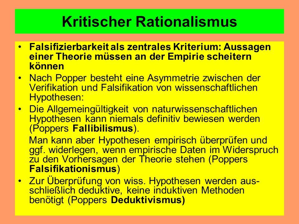 Literaturtipp Karl R. Popper: Die beiden Grundprobleme der Erkenntnistheorie. Hg. T.E. Hansen. Tübingen: Mohr/Siebeck 1979 Karl R. Popper: Logik der F