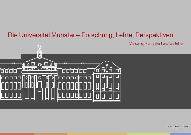Westfälische Wilhelms-Universität Münster Westfälische Wilhelms-Universität Münster Vielseitig, kompetent und weltoffen Die Universität Münster – Fors