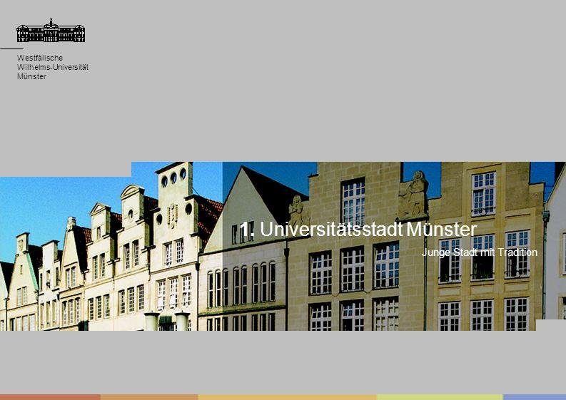 Westfälische Wilhelms-Universität Münster Westfälische Wilhelms-Universität Münster Junge Stadt mit Tradition Westfälische Wilhelms-Universität Münste
