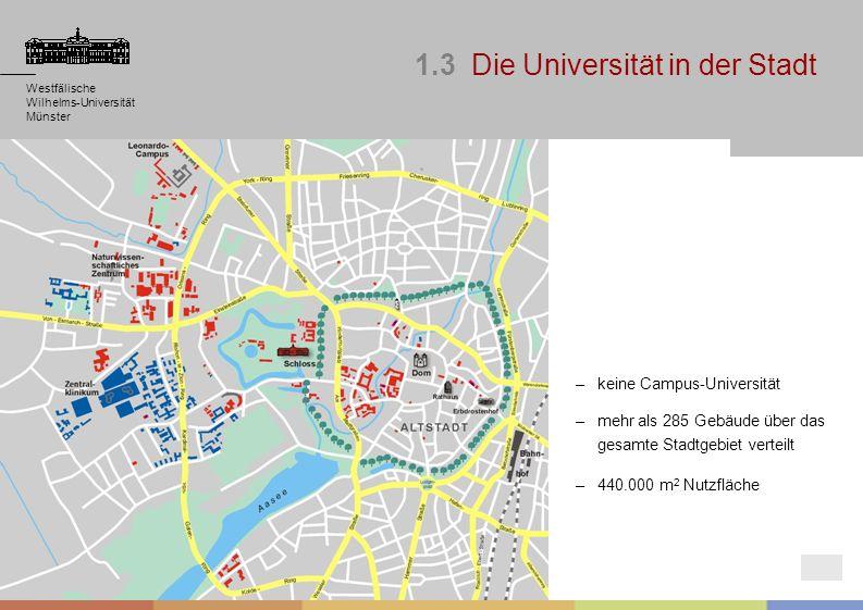 Westfälische Wilhelms-Universität Münster Westfälische Wilhelms-Universität Münster Westfälische Wilhelms-Universität Münster 1.3 Die Universität in d