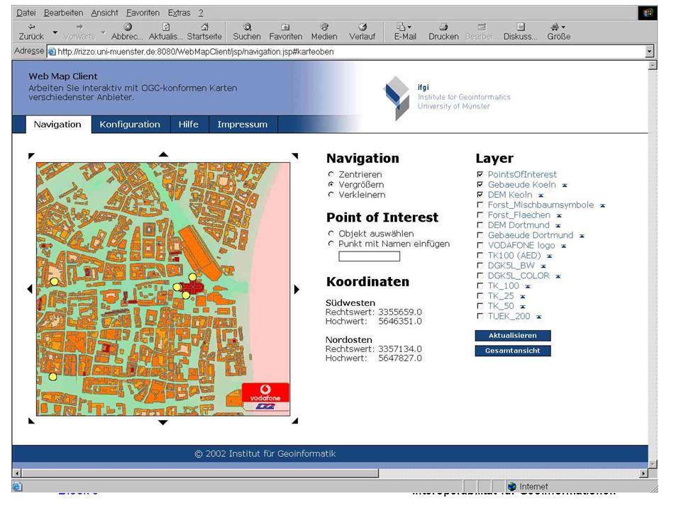 Block 3Interoperabilität für Geoinformationen Vodafone/IfGI Mapping Client