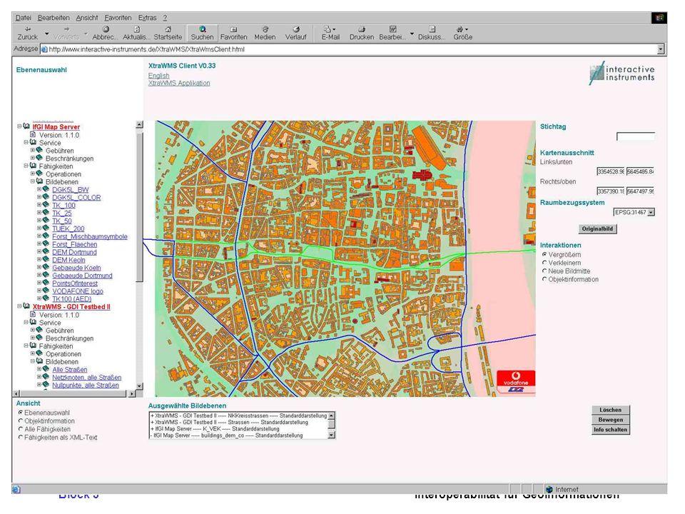 Block 3Interoperabilität für Geoinformationen