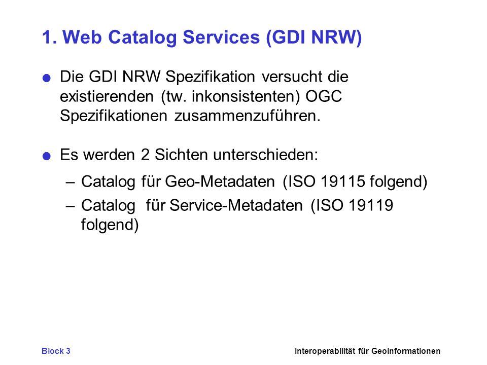 Block 3Interoperabilität für Geoinformationen 3.Fazit - Was fehlt .