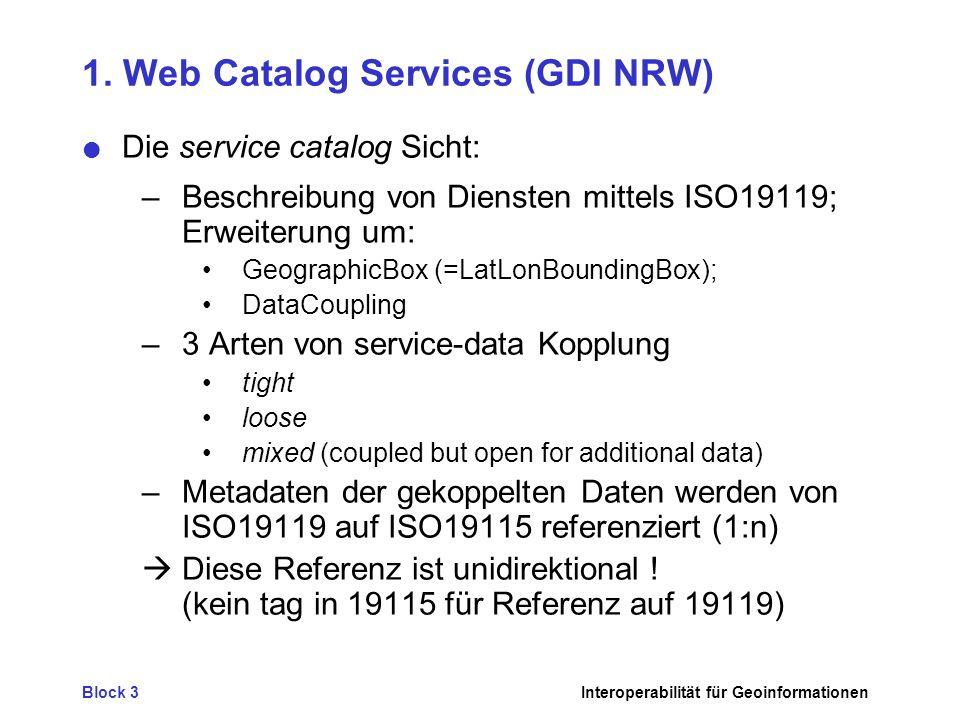 Block 3Interoperabilität für Geoinformationen 2.