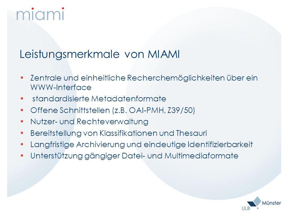 Metadaten Grundinformationen zum Dokument für MIAMI Abstract Angaben zur Person freie Schlagwörter Einordnung in eine Fachklassifikation