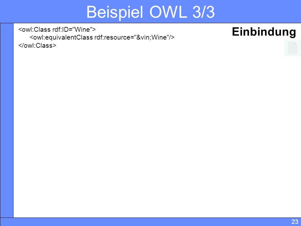 23 Beispiel OWL 3/3 Einbindung