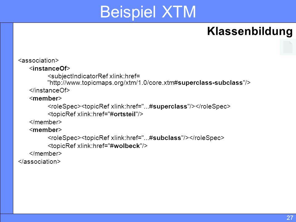 27 Beispiel XTM Klassenbildung