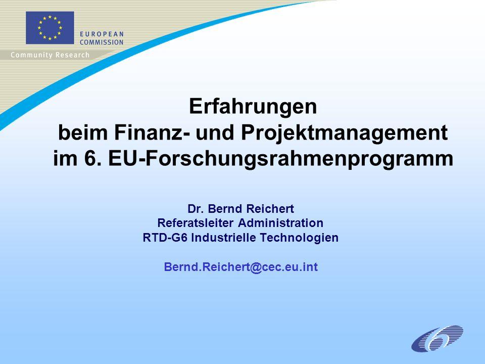 Erfahrungen beim Finanz- und Projektmanagement im 6.