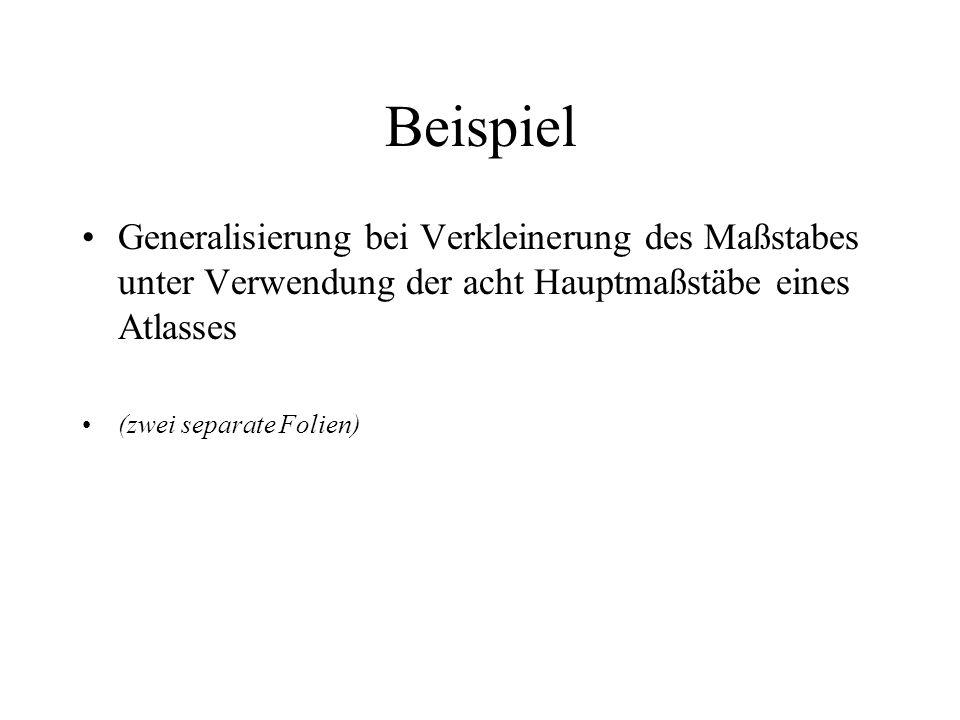 Zusammenfassung Generalisierungstechniken Zeitliche Generalisierung (zwei separate Folien) »Danke für Ihre Aufmerksamkeit !