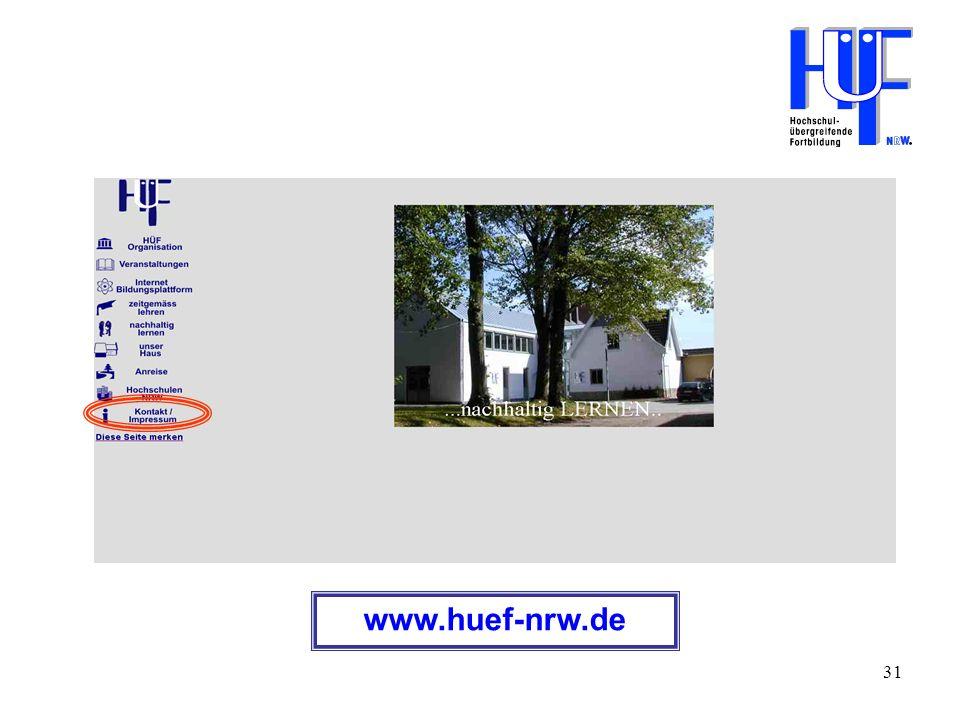 31 www.huef-nrw.de