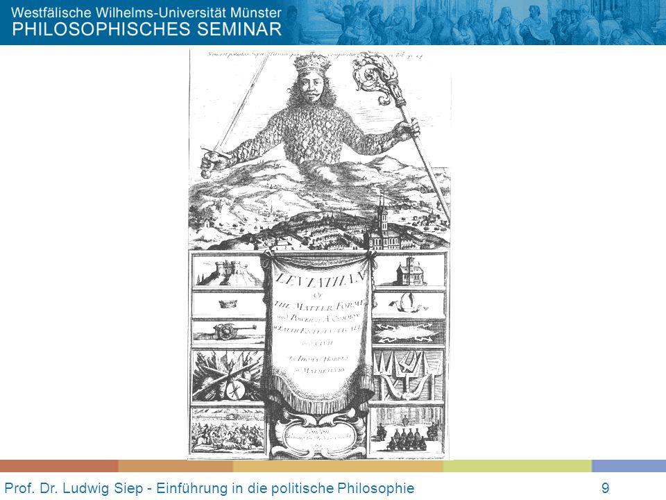 Prof. Dr. Ludwig Siep - Einführung in die politische Philosophie9