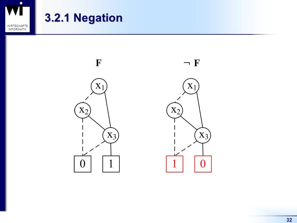 32 WIRTSCHAFTS INFORMATIK 3.2.1 Negation