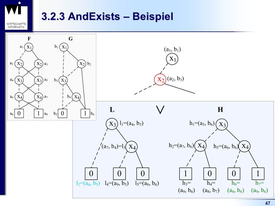 47 WIRTSCHAFTS INFORMATIK 3.2.3 AndExists – Beispiel