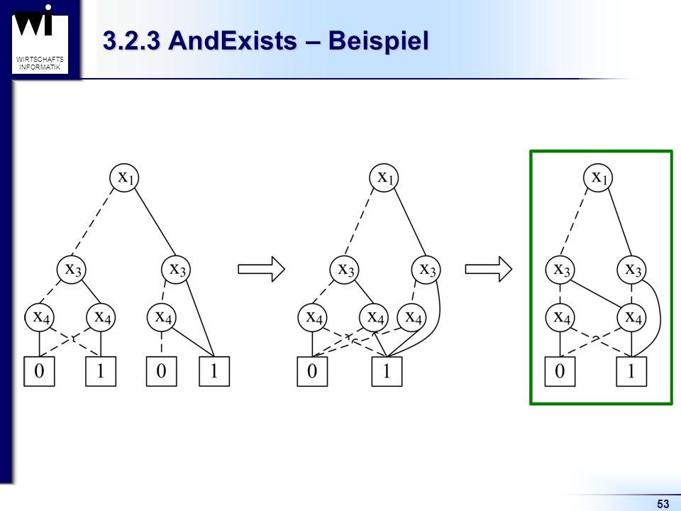 53 WIRTSCHAFTS INFORMATIK 3.2.3 AndExists – Beispiel