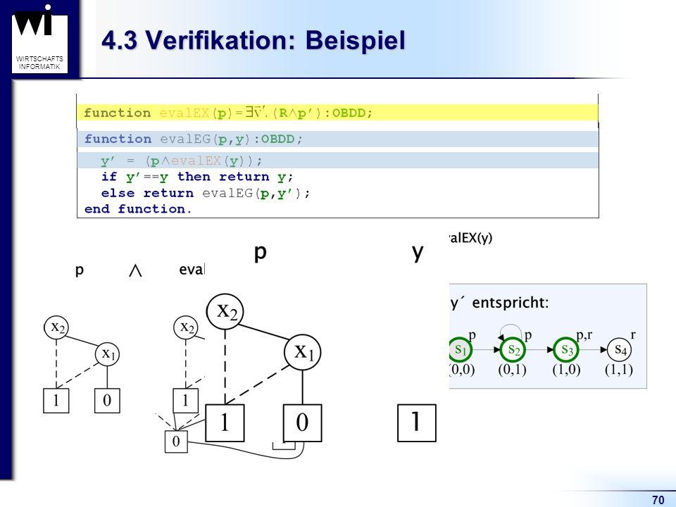 70 WIRTSCHAFTS INFORMATIK 4.3 Verifikation: Beispiel