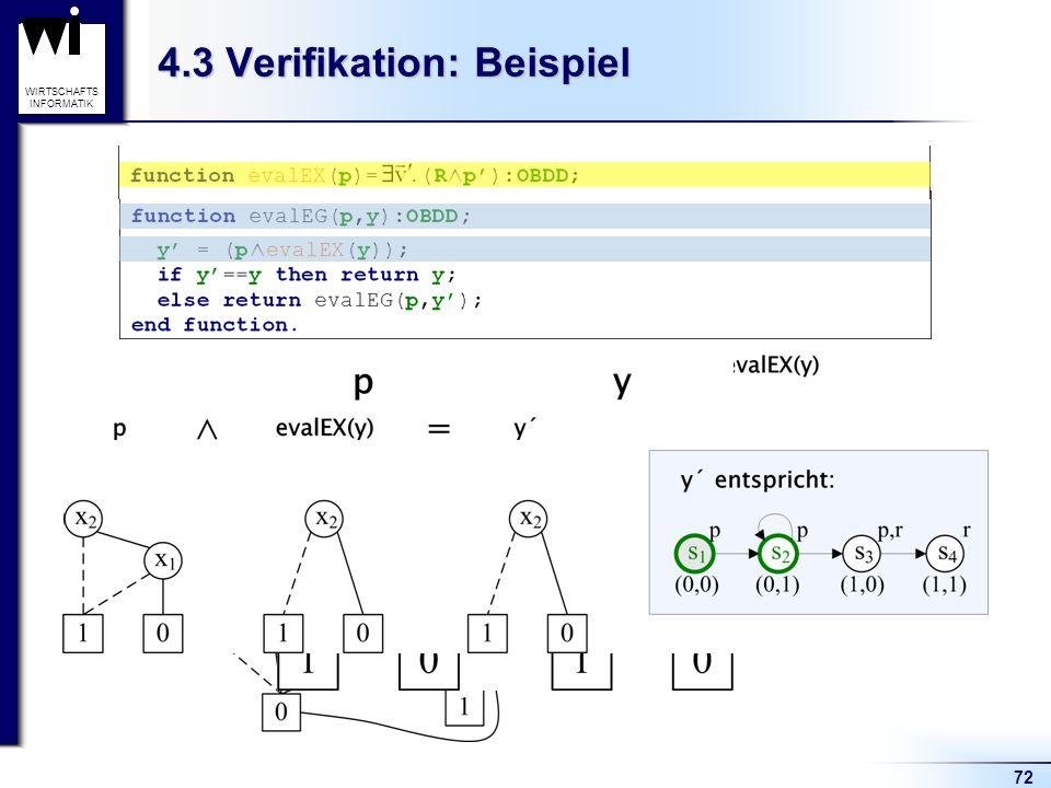 72 WIRTSCHAFTS INFORMATIK 4.3 Verifikation: Beispiel