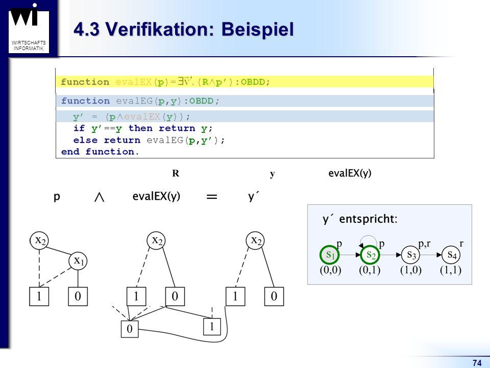 74 WIRTSCHAFTS INFORMATIK 4.3 Verifikation: Beispiel