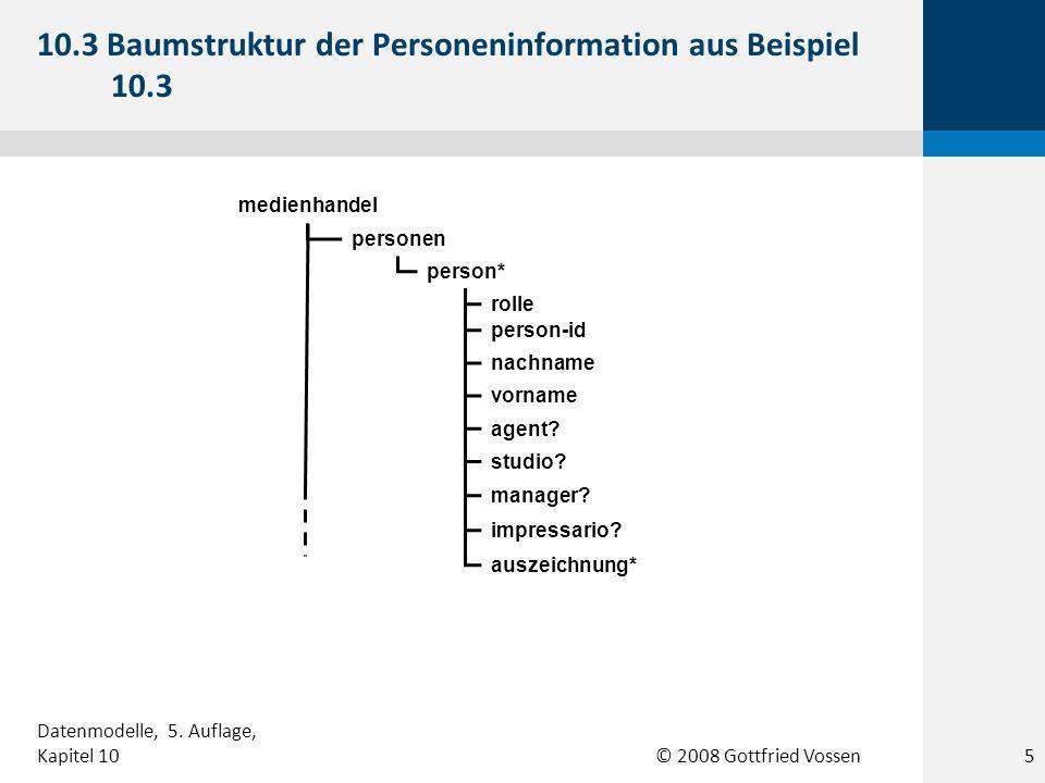 © 2008 Gottfried Vossen personen person* person-id nachname vorname agent.