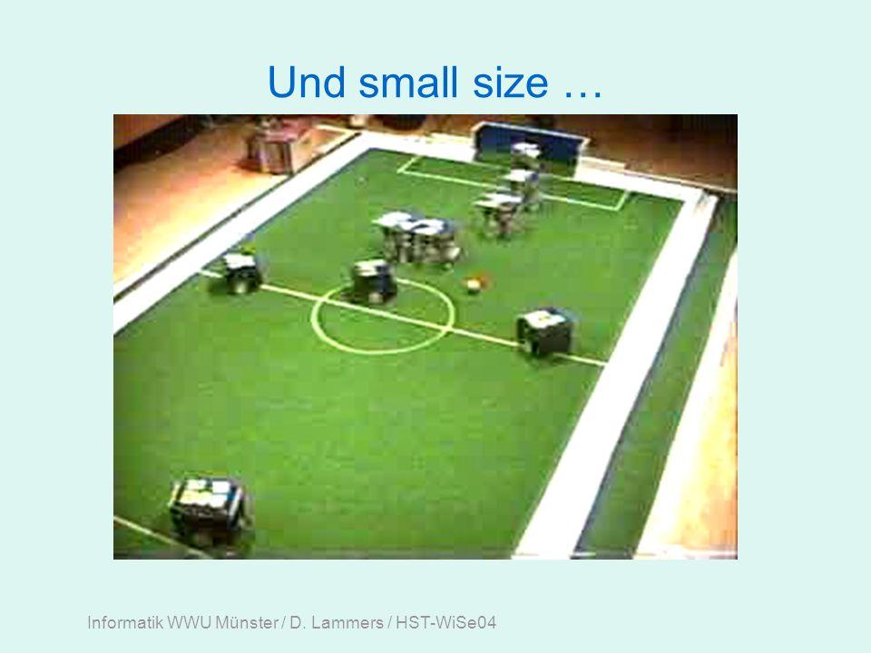 Informatik WWU Münster / D. Lammers / HST-WiSe04 Und small size …