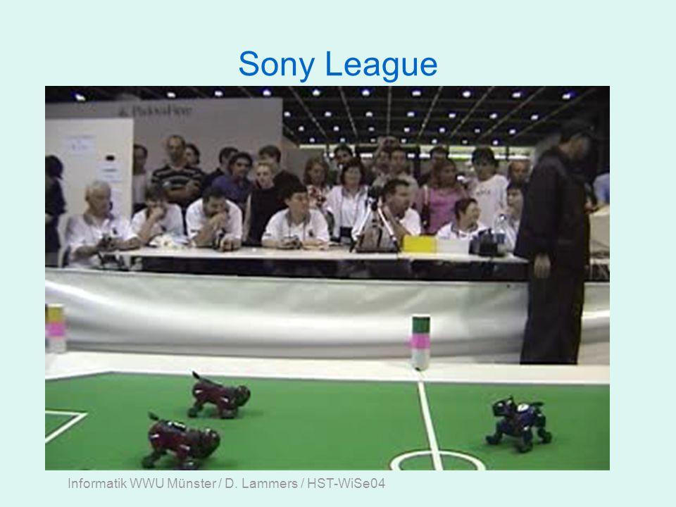 Informatik WWU Münster / D. Lammers / HST-WiSe04 Sony League