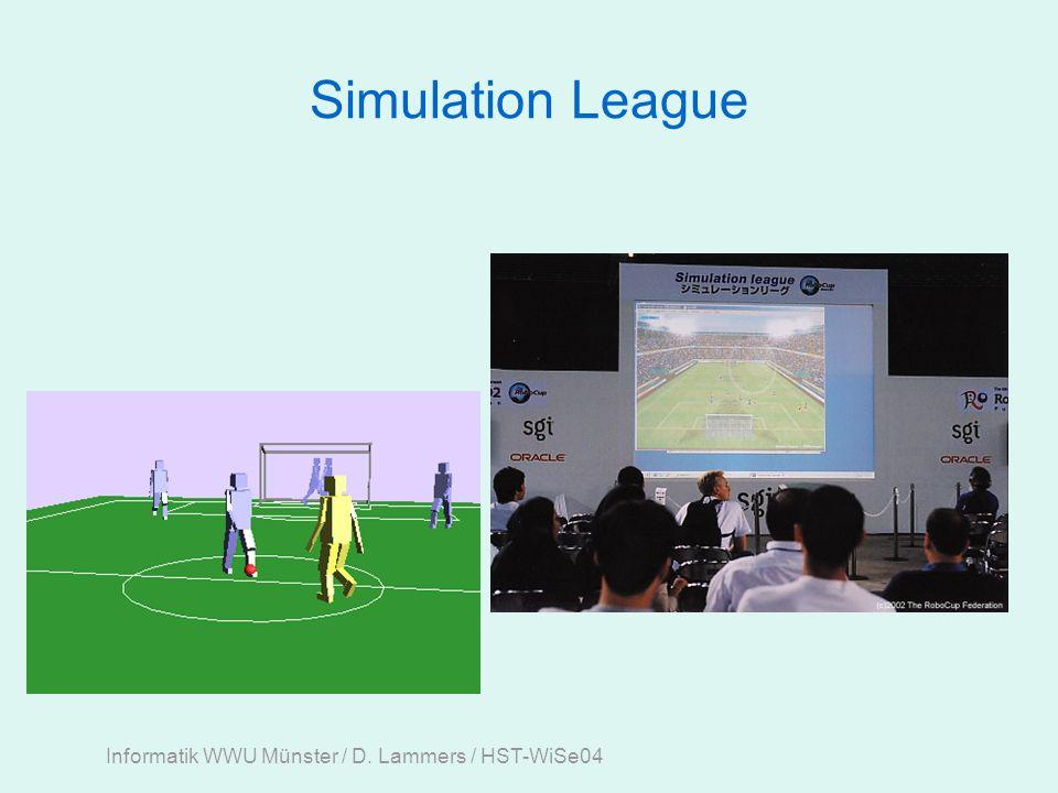 Informatik WWU Münster / D. Lammers / HST-WiSe04 Simulation League