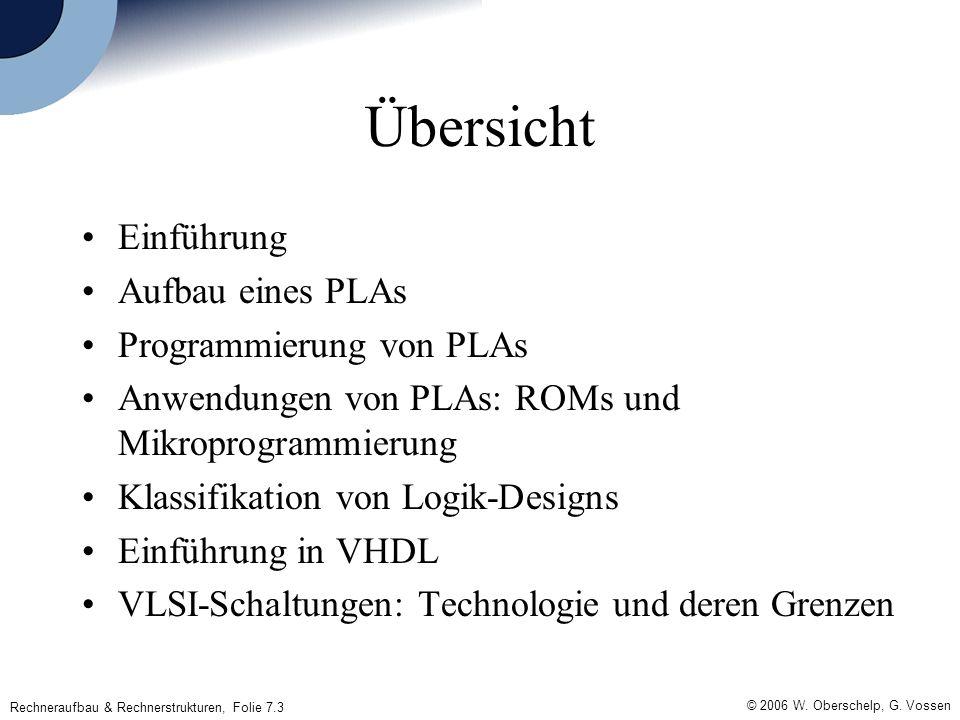 Rechneraufbau & Rechnerstrukturen, Folie 7.3 © 2006 W.