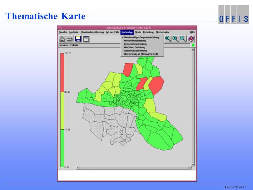 Greifswald 98, 11 Thematische Karte