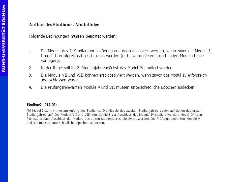 Modul VII (11 KP) prüfungsrelevant Hauptseminar Übung für Fortgeschrittene Modul VIII (9KP) HauptseminarVorlesung Seminar IÜbungVorlesung Modul IV (9KP) Seminar IIISeminar II Modul V (10KP) prüfungsrelevant Varianten für die Schwerpunktsetzung in der Neuzeit Frühe NZ / 19.