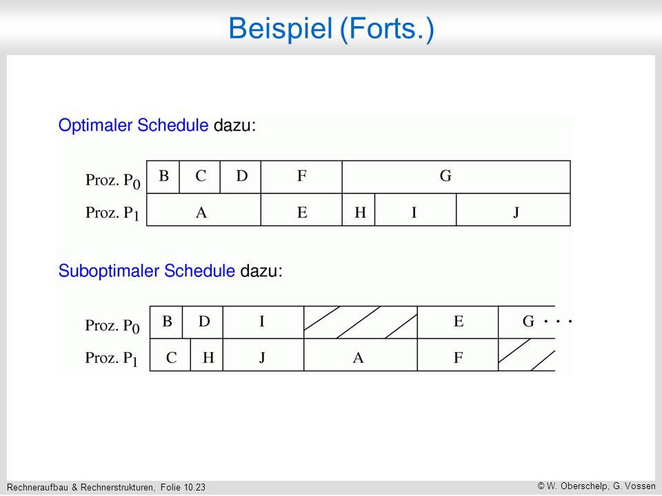 Rechneraufbau & Rechnerstrukturen, Folie 10.23 © W. Oberschelp, G. Vossen Beispiel (Forts.)
