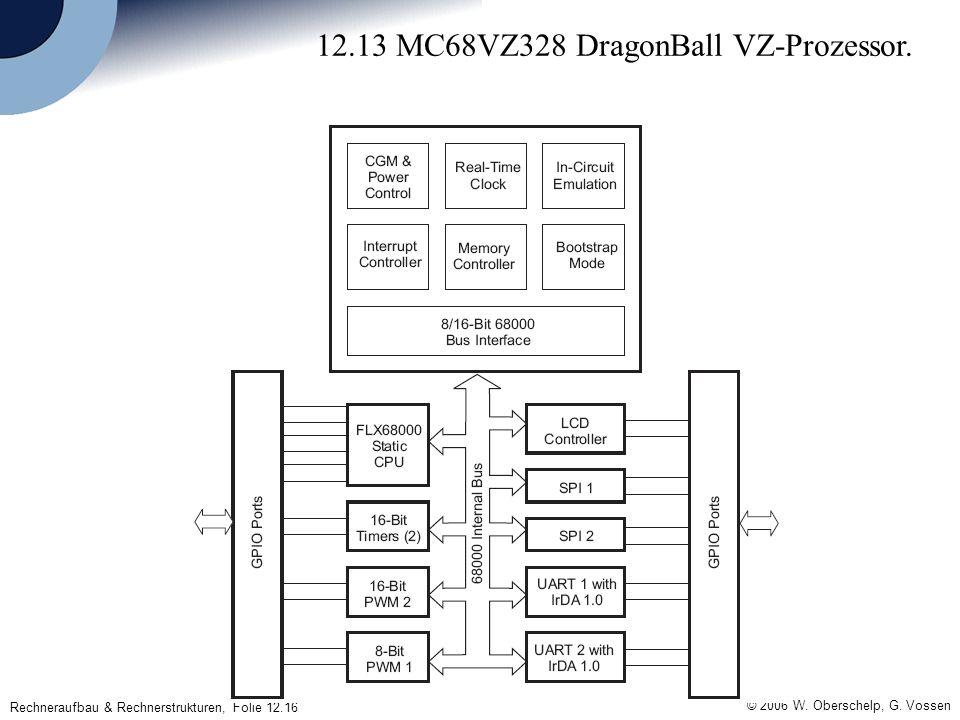 © 2006 W. Oberschelp, G. Vossen Rechneraufbau & Rechnerstrukturen, Folie 12.16 12.13 MC68VZ328 DragonBall VZ-Prozessor.